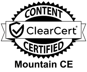 MountainCE Clearcert Certification Seal